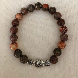 Jewelry - Handmade Leopard Jasper Bracelet -Supreme Nurturer